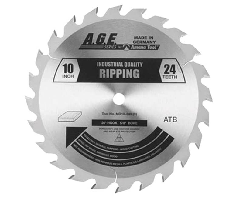 "10"" Heavy Duty Ripping Blade - 24 Teeth"