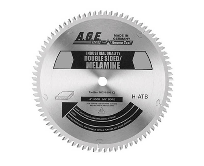 "10"" Double Sided Melamine Blade - 80 Teeth"