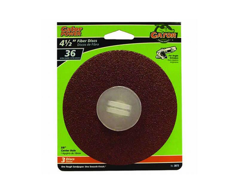 "4 1/2"" Aluminum Oxide Fiber Disc - 36 Grit"