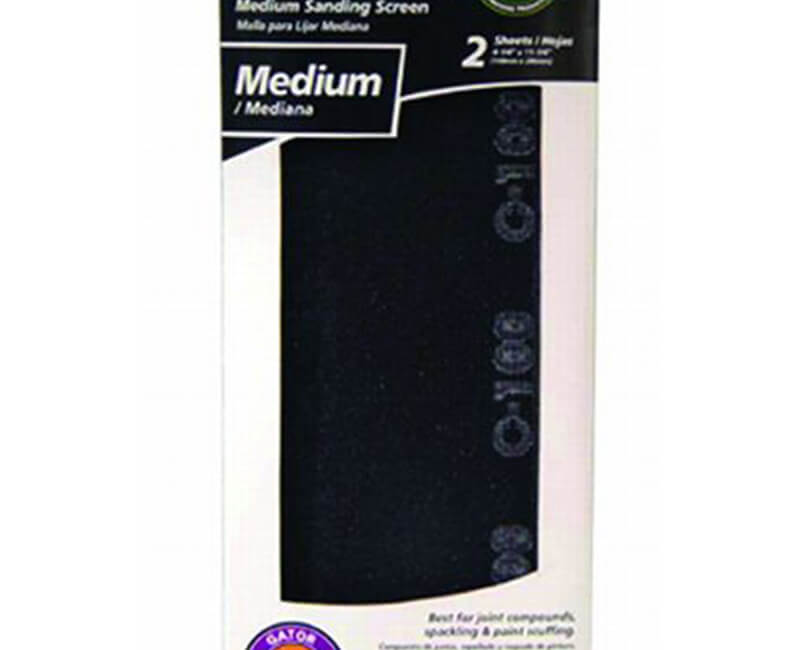 "4 1/4""x11 1/4"" Medium Dry Wall Sanding Screen - 2 Pack"