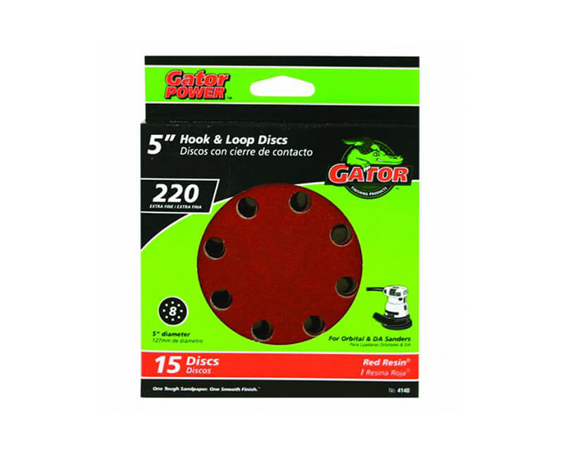 8 Hole Hook And Loop Sanding Discs - Extra Fine 15 Pack
