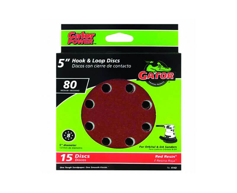 8 Hole Hook And Loop Sanding Discs - Medium 15 Pack
