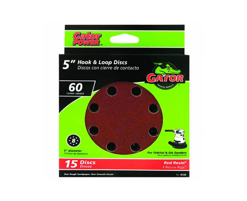 8 Hole Hook And Loop Sanding Discs - Coarse 15 Pack