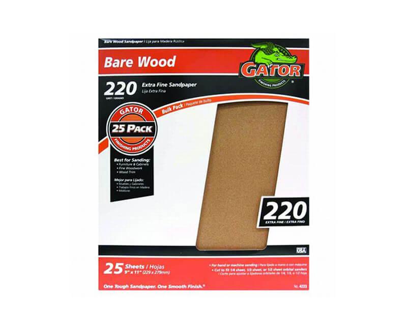 "9""x11"" Extra Fine Garnet Sandpaper - 220 Grit"