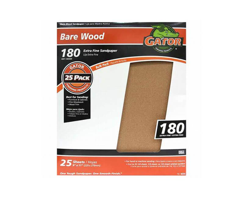 "9""x11"" Extra Fine Garnet Sandpaper - 180 Grit"
