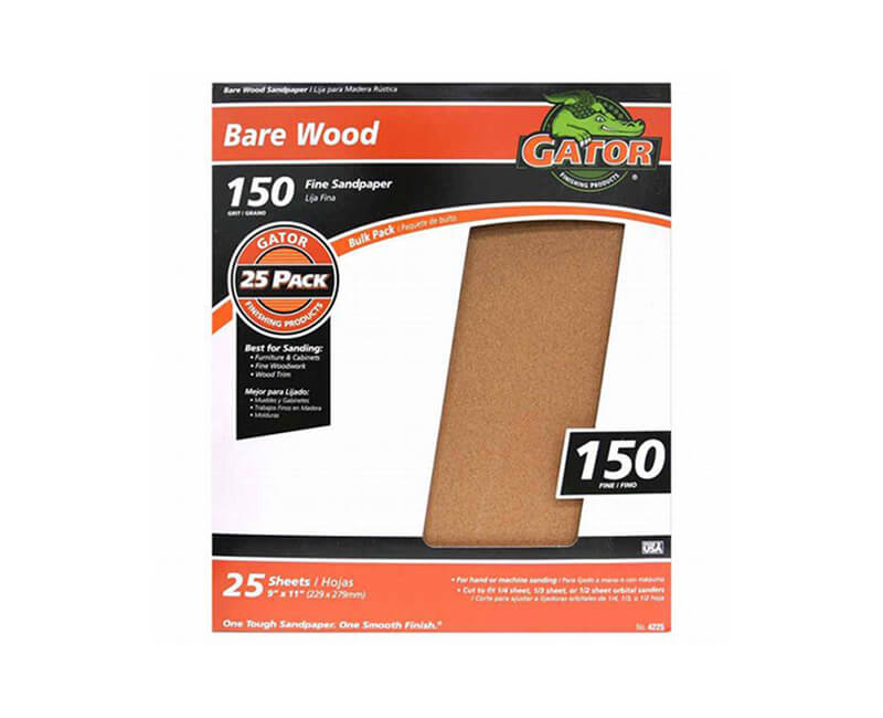 "9""x11"" Extra Fine Garnet Sandpaper - 150 Grit"