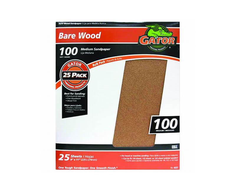 "9""x11"" Medium Garnet Sandpaper - 100 Grit"