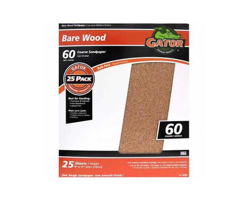 "9""x11"" Coarse Garnet Sandpaper - 60 Grit"