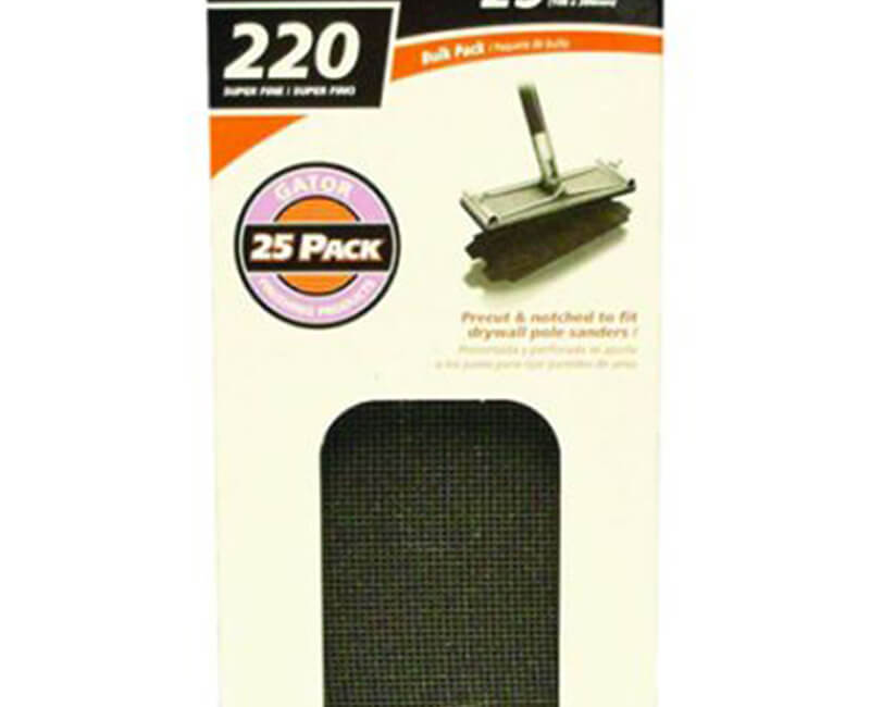 "4 1/4""x11 1/4"" Dry Wall Sanding Screen - 220 Grit"