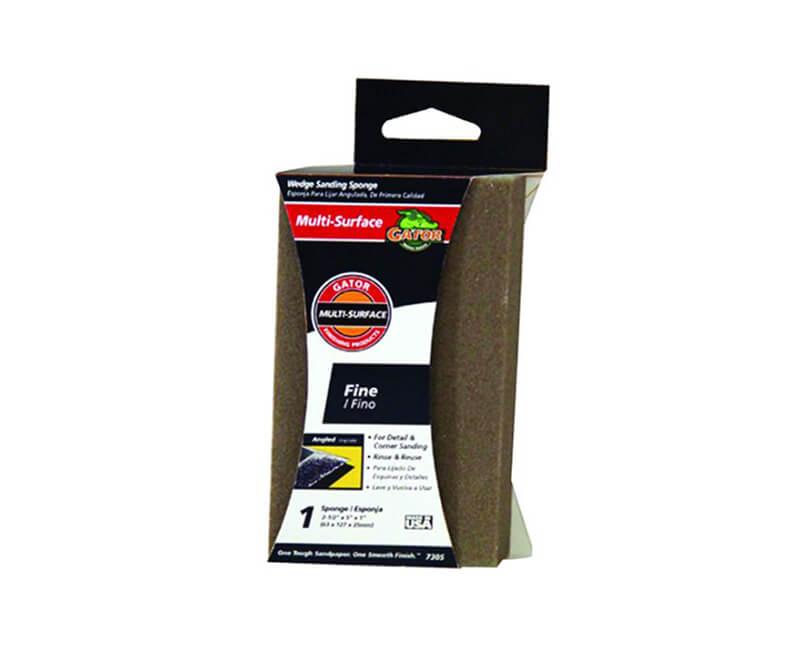 Jumbo Dual Wedge Sanding Sponge - Fine
