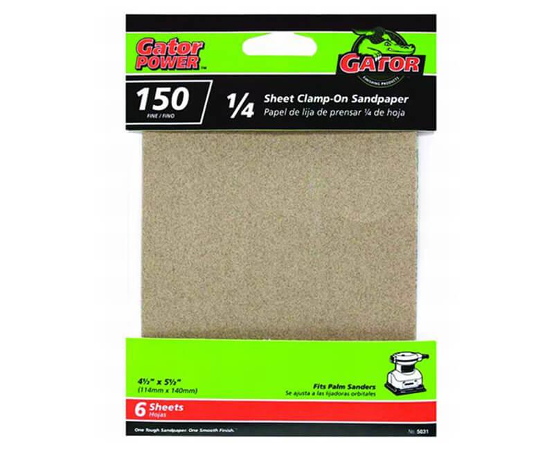 "4 1/2""x5 1/2"" Aluminum Oxide Sandpaper - 150 Grit"