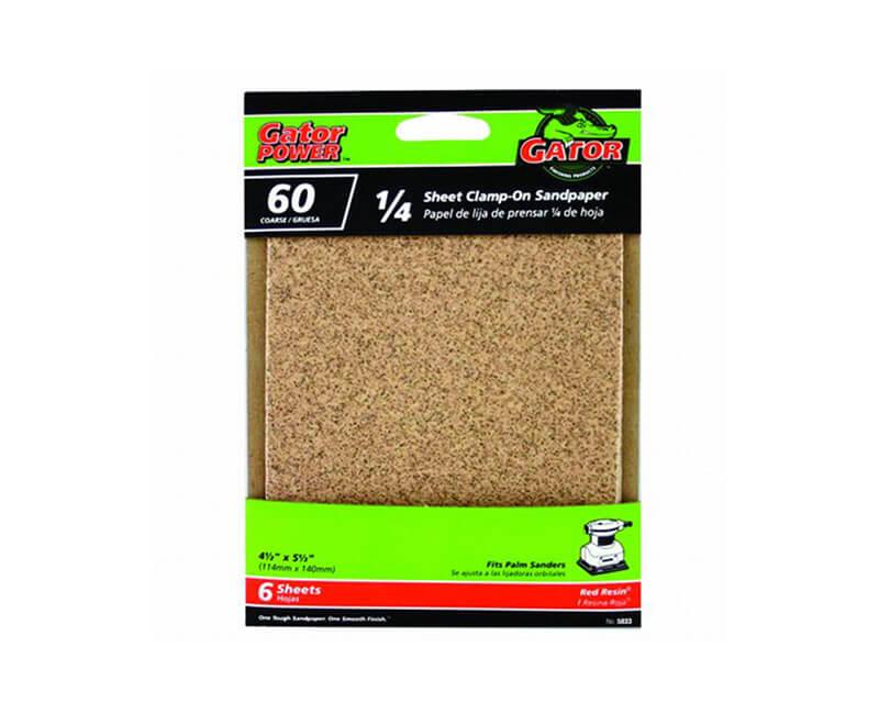 "4 1/2""x5 1/2"" Aluminum Oxide Sandpaper - 60 Grit"