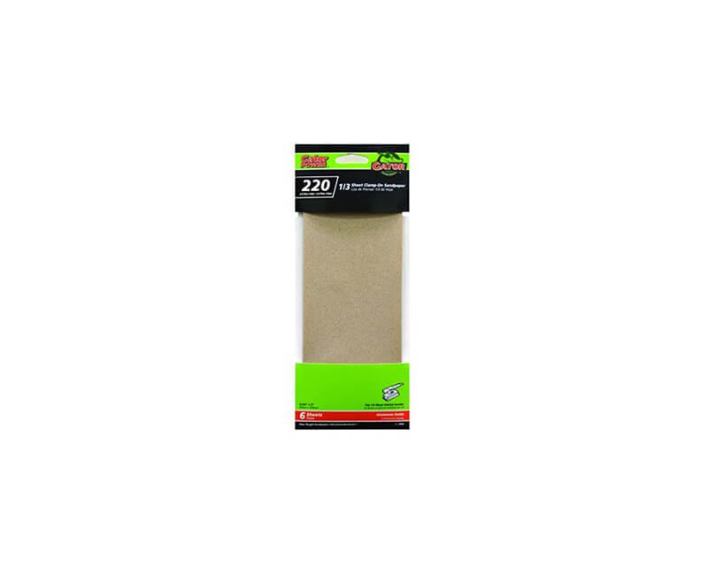 "3 2/3""x9"" Aluminum Oxide Sandpaper - 220 Grit"