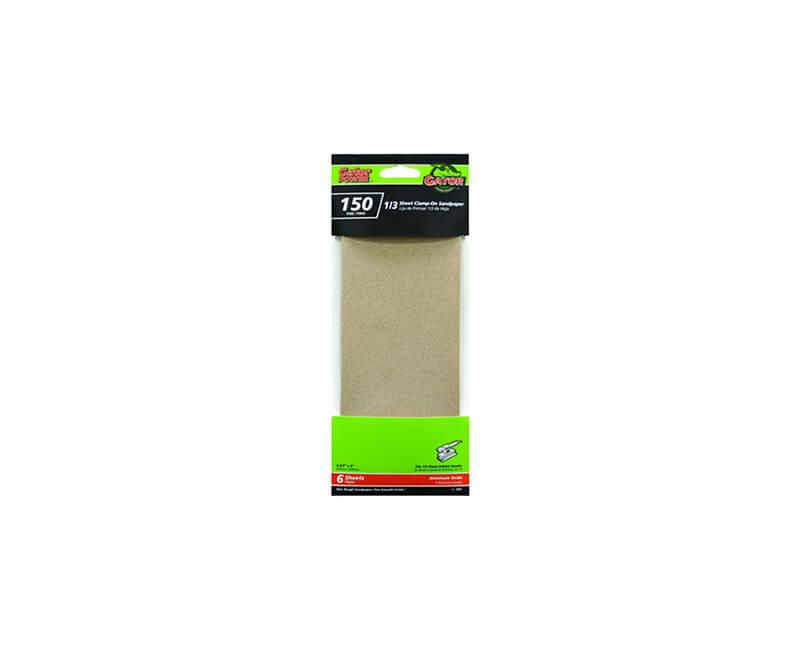"3 2/3""x9"" Aluminum Oxide Sandpaper - 150 Grit"