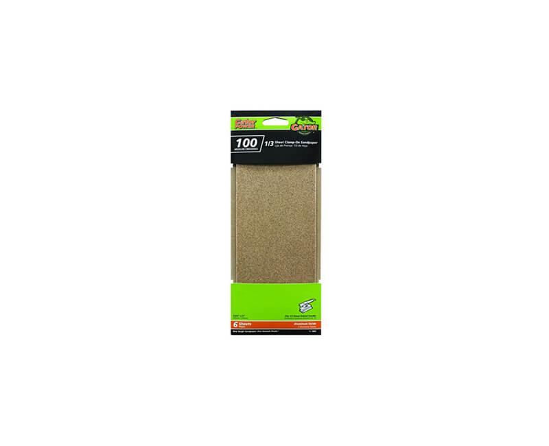 "3 2/3""x9"" Aluminum Oxide Sandpaper - 100 Grit"