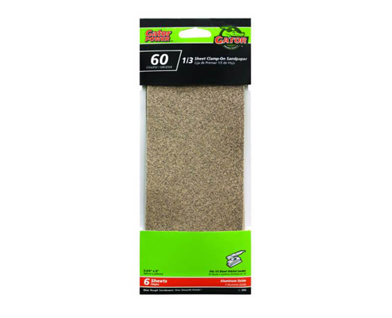 "3 2/3""x9"" Aluminum Oxide Sandpaper - 60 Grit"