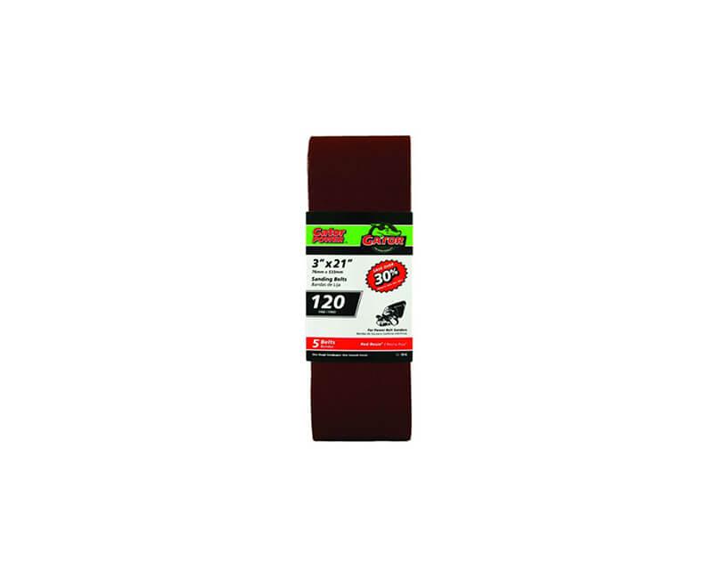 "3""x21"" Bi-Directional Aluminum Oxide Belts - 120 Grit"