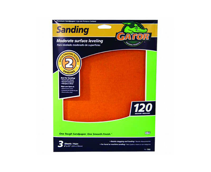 "9""x11"" Medium Premium Sandpaper - 120 Grit"