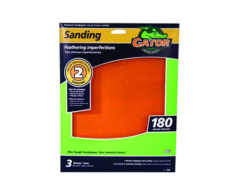 "9""x11"" Medium Premium Sandpaper - 180 Grit"