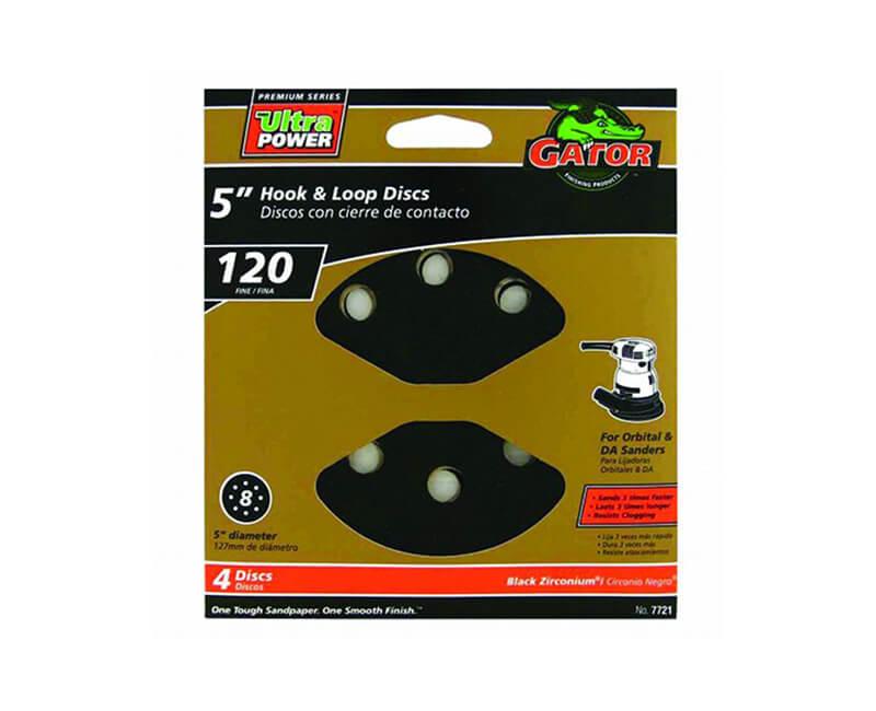 8 Hole Premium Hook And Loop Sanding Discs - Fine