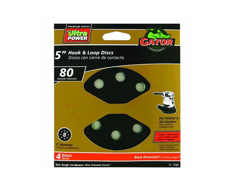 8 Hole Premium Hook And Loop Sanding Discs - Medium