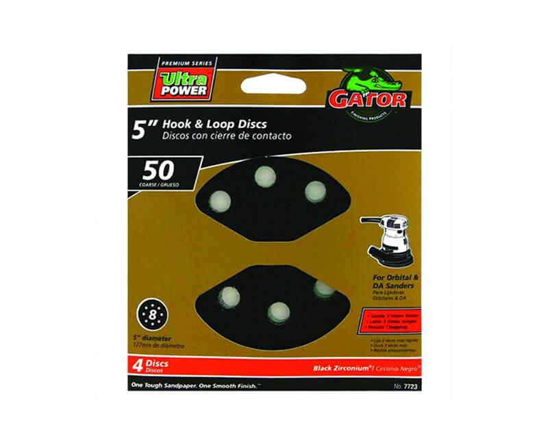 8 Hole Premium Hook And Loop Sanding Discs - Coarse