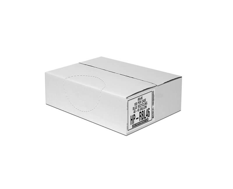 45 GAL. Blue Trash Bags - 100/Box