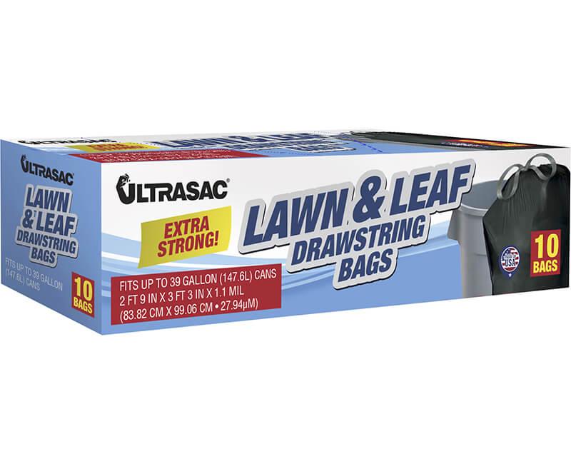 39 GAL Drawstring Lawn & Leaf Bag - 10 Bags