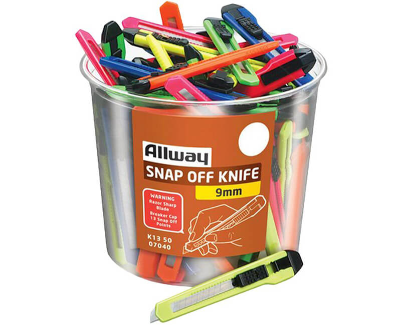 13 Point Breakaway Knives - 50/Bucket