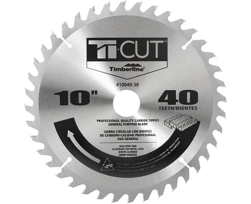 "10"" Ti-Cut Saw Blade - 40 Teeth"
