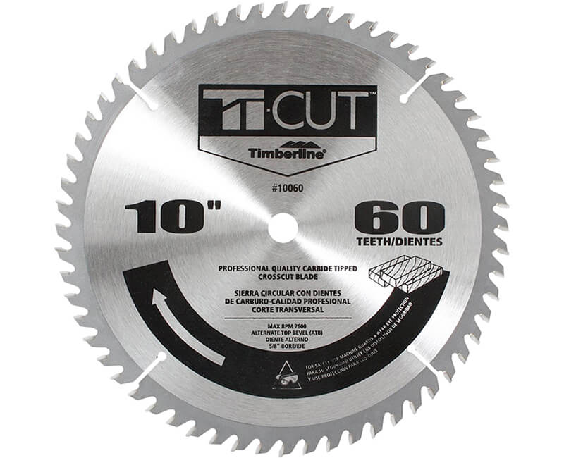 "10"" Ti-Cut Saw Blade - 60 Teeth"