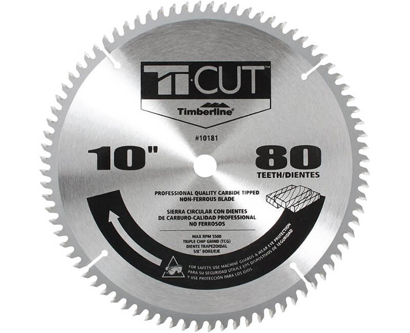 "10"" Ti-Cut Saw Blade - 80 Teeth"