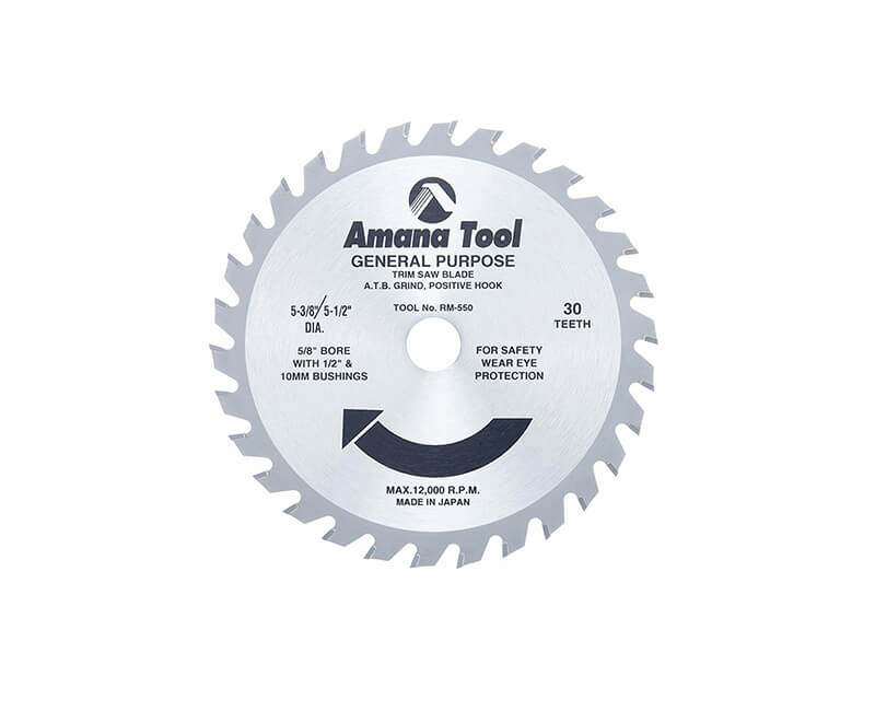 "5 1/2""x 30 Teeth Thin Kerf Saw Blade"