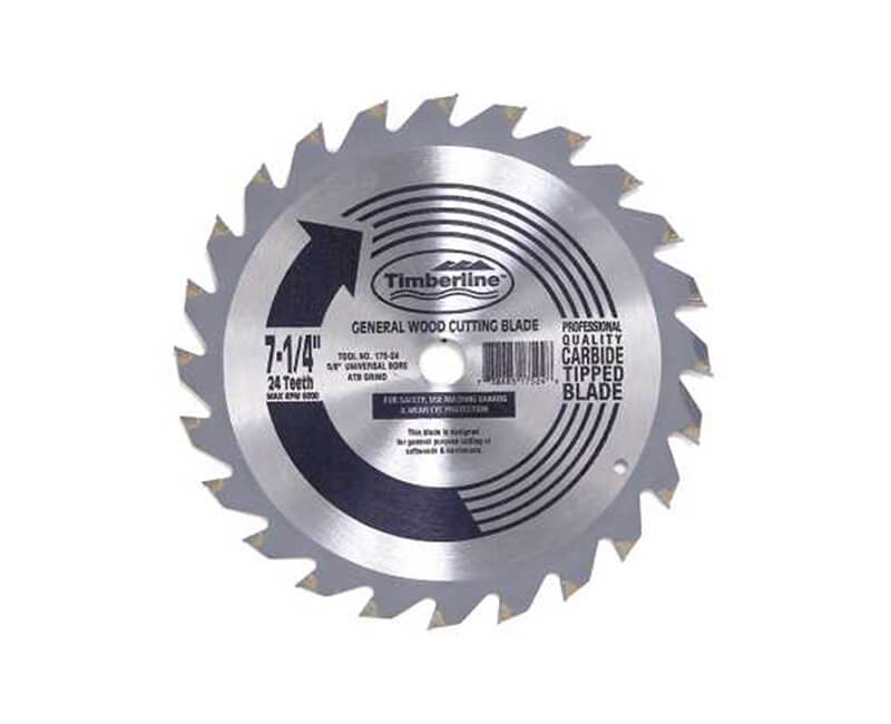 "7 1/4""x 24 Teeth Contractor Saw Blade - Bulk"
