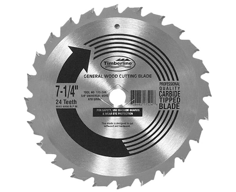 "7 1/4""x 24 Teeth Contractor Saw Blade"