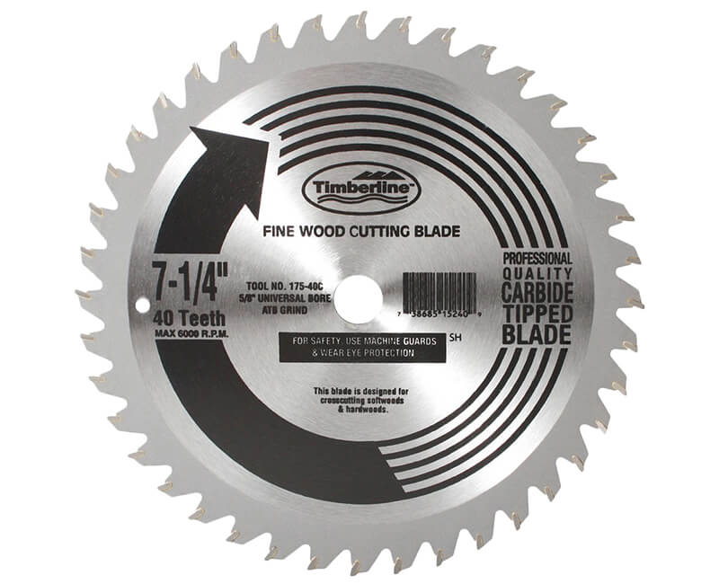 "7 1/4""x 40 Teeth Contractor Saw Blade - Bulk"