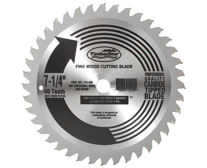 "7 1/4""x 40 Teeth Contractor Saw Blade"