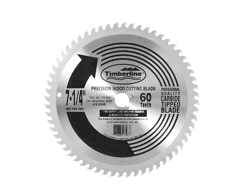 "7 1/4""x 60 Teeth Contractor Saw Blade - Bulk"