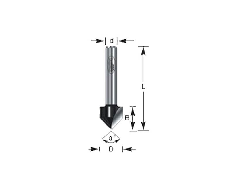 """3/8""""x7/16"""" V Groove Router Bit"""