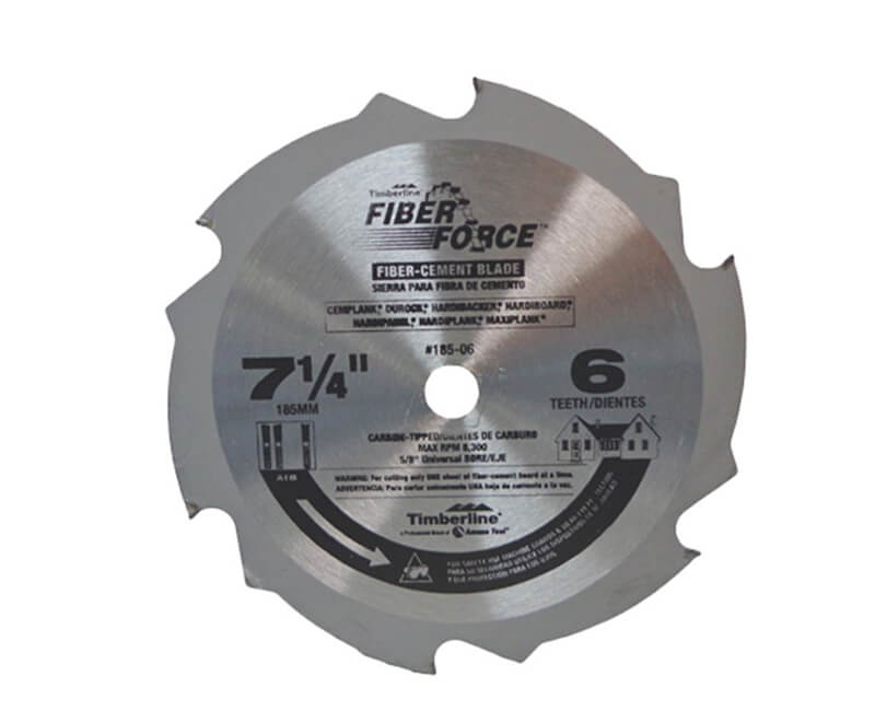 "7-1/4"" Fiber Force Cement Board Cutting Blade - 6 Teeth"