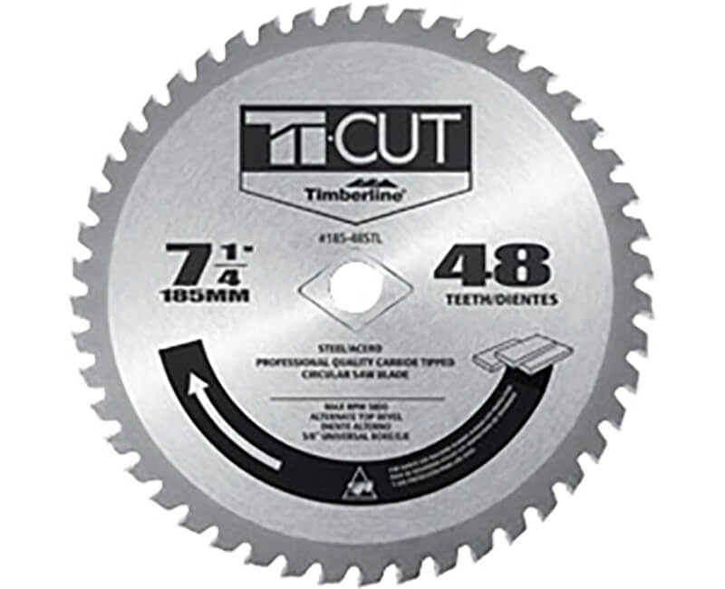 "7 1/4"" Ti-Cut Steel Saw Blade - 48 Teeth"