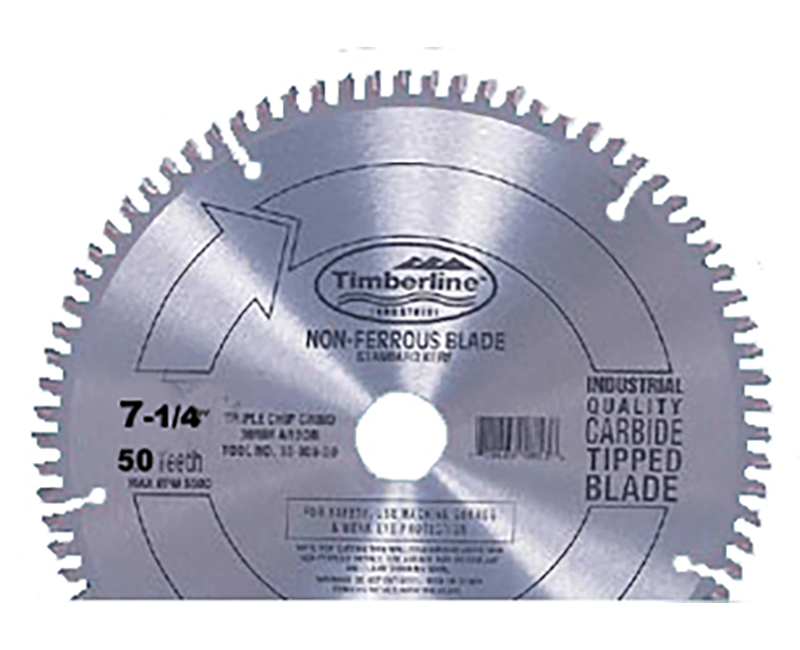 "7 1/4"" Non Ferrous Cutting Blade - 50 Teeth"