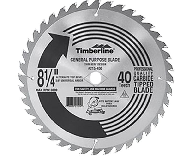 "8 1/4""x 24 Teeth Thin Kerf Saw Blade"