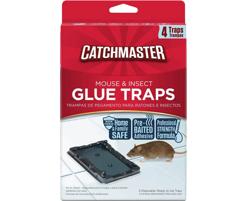 Mouse & Insect Glue Traps - 4 Pack