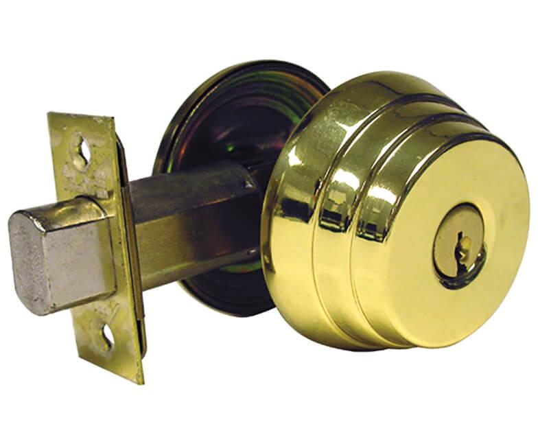 """2 3/8"""" Backset Single Cylinder Deadbolt - US3"""