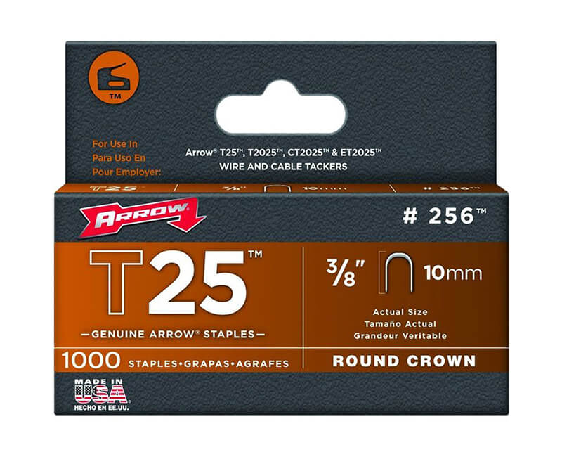 "3/8"" T25 Staples - 5 Packs 1000 Per Pack"