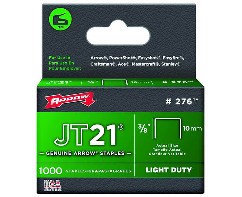 "3/8"" T27 Staples - 5 Packs 1000 Per Pack"