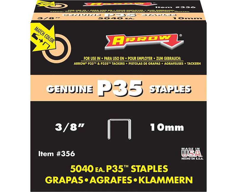 "3/8"" P35 Staples - Bulk 5000 Per Box"