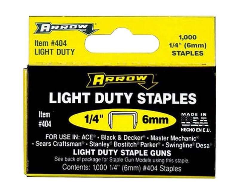 "1/4"" 400 Series Staples - 5 Packs 1000 Per Pack"
