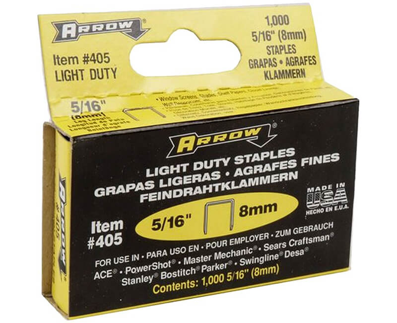 "5/16"" 400 Series Staples - 5 Packs 1000 Per Pack"